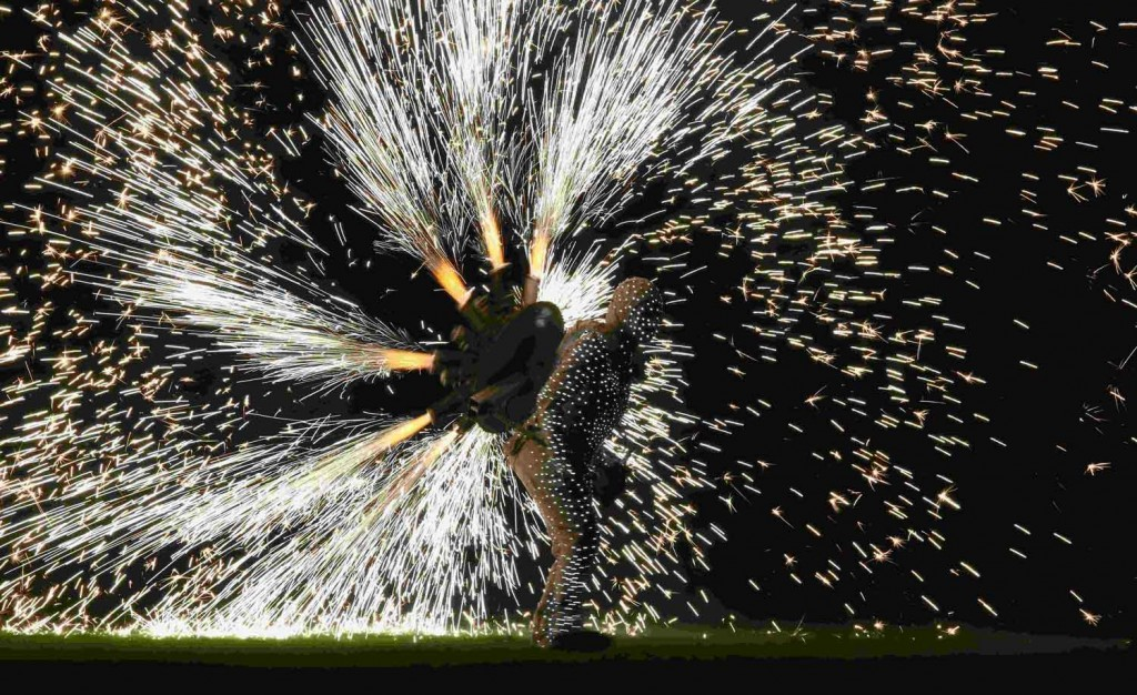 Pyrotechnics during Closing Ceremony