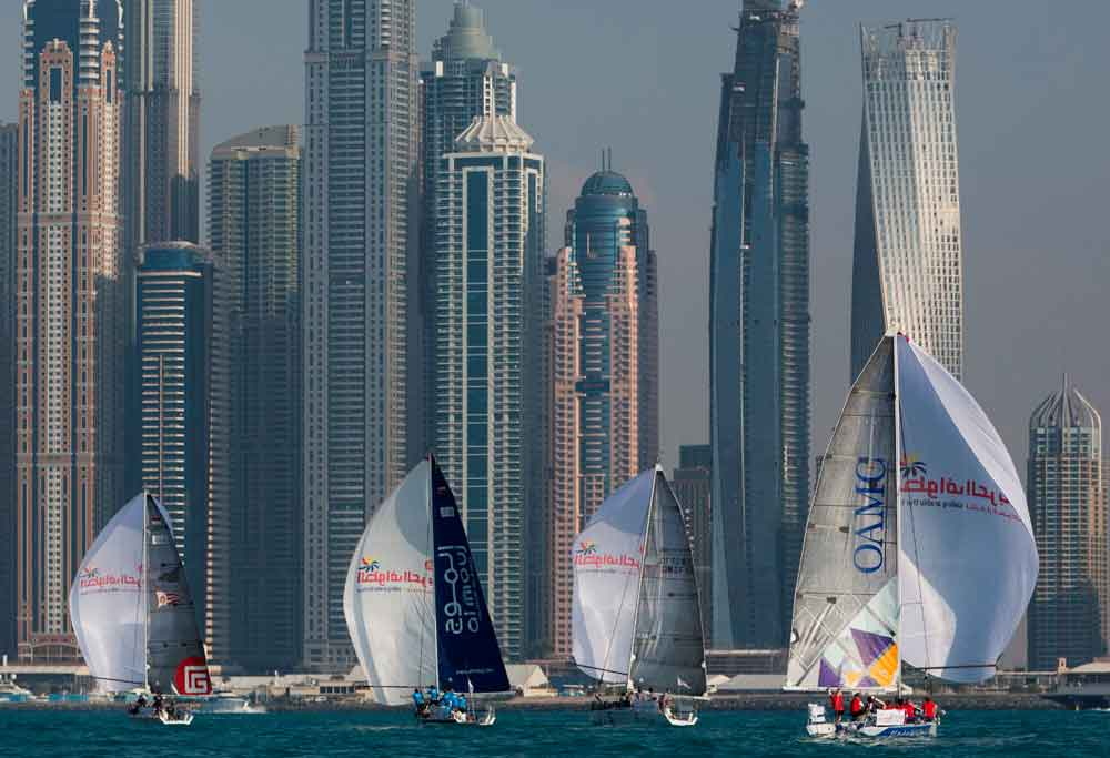 The crews gather in Palm Jumeirah Dubai ahead of the kick off on February 15th